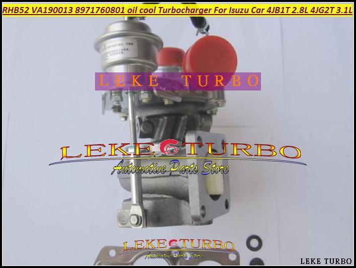 Turbo For ISUZU Car Engine 4JB1T 2.8L 4JG2T 3.1L RHB52 VA190013 8971760801 oil cooled Turbocharger with Gaskets (4)
