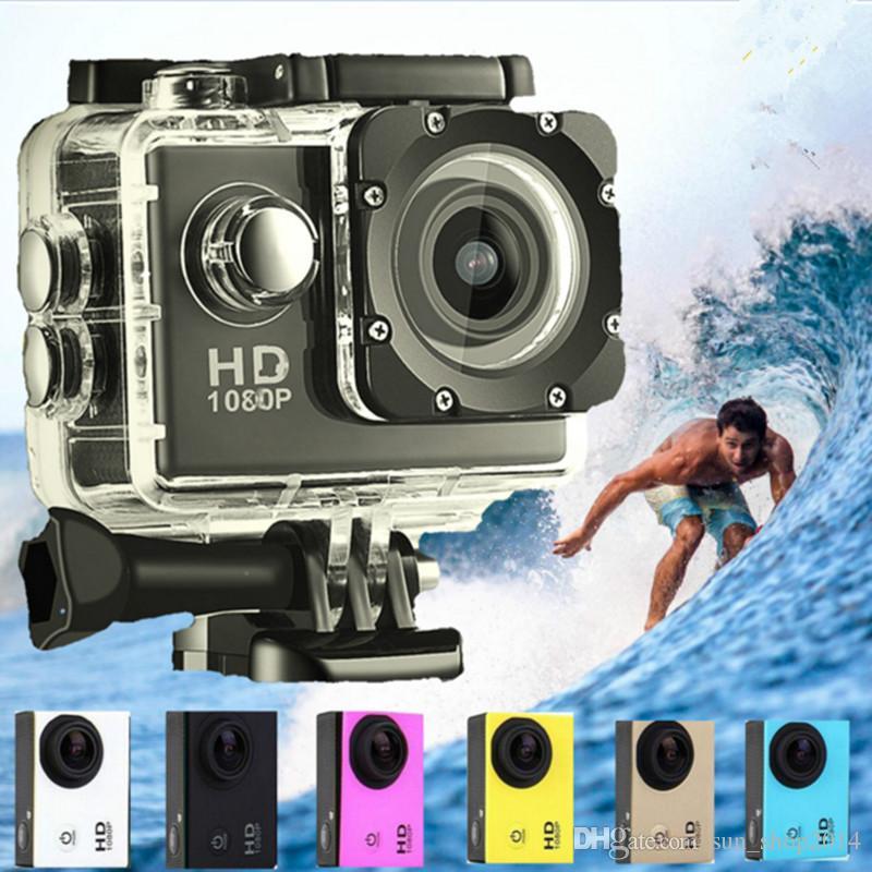 10pcs SJ4000 1080P 풀 HD 액션 디지털 스포츠 카메라 2 인치 방수 30 M DV 녹화 미니 Sking 자전거 사진 비디오에서 화면
