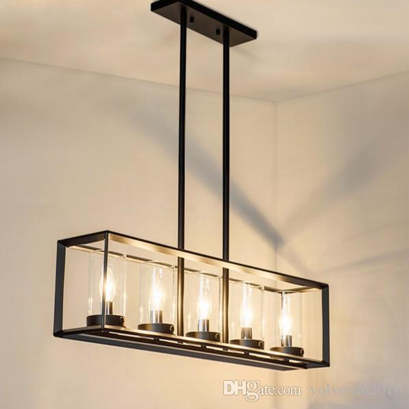 Nordic винтаж ретро кулон Эдисон свет промышленный лофт Антикварные лампы черный кованого железа люстра искусство светильник свет LLFA