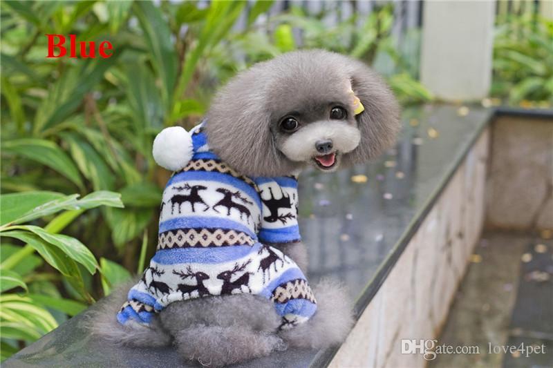 A19 cão casaco quente coral fleece roupas para 4 pernas - projeto de veados roupas para animais de estimação cão de estimação roupas quentes do inverno produtos para animais de estimação