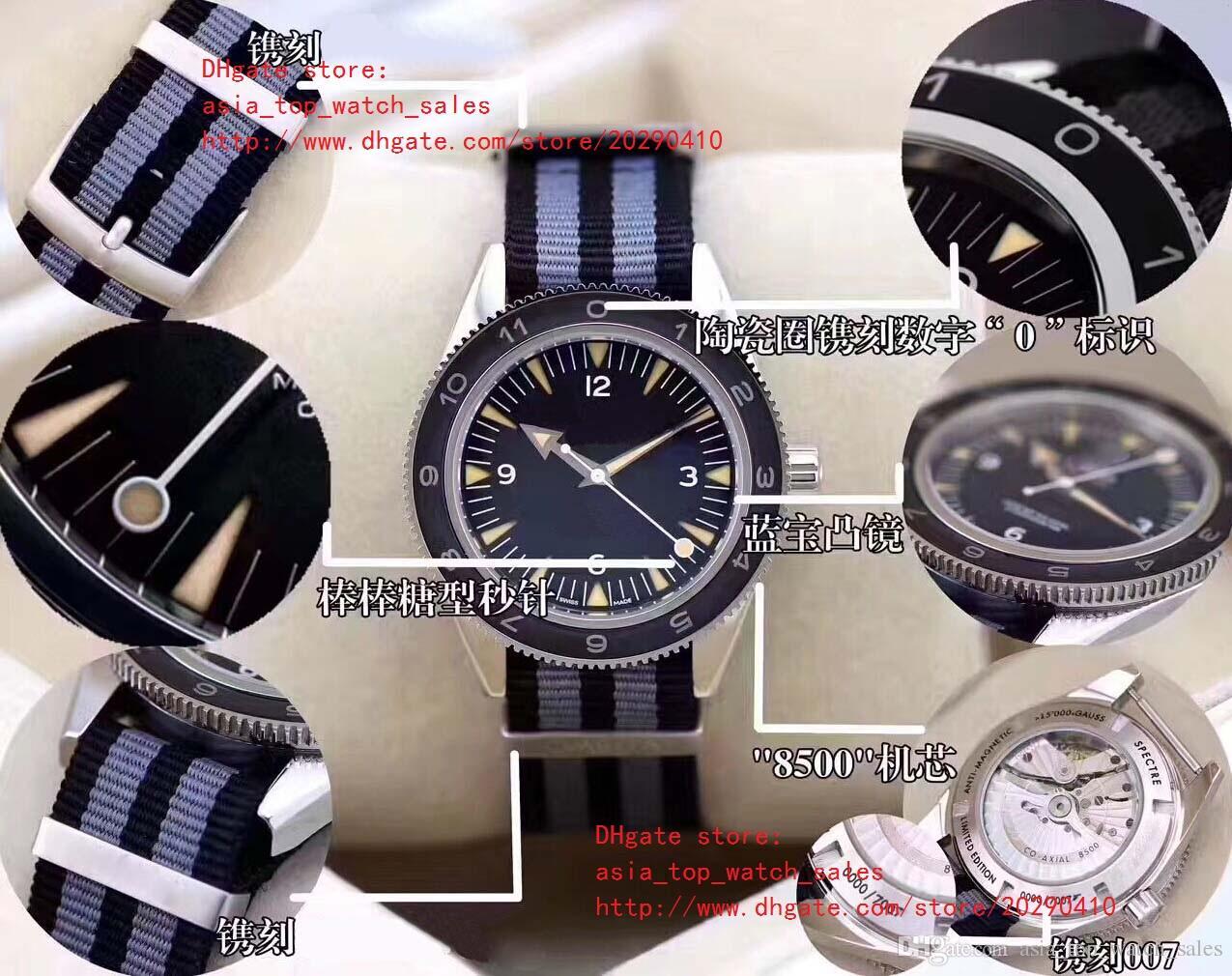 Lujo 41mm 233.30.41.21.01.001 James Bond Spectre 007 Mechanical Transparent 8500 Automatic mecánico Reloj para hombre