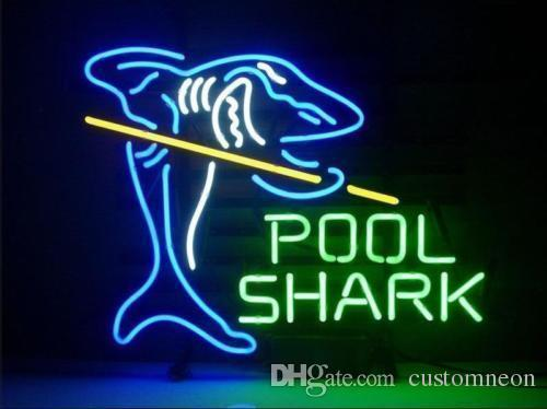 "17""x14"" Pool Shark Game Neon Light Sign Store Bar Pub Room Party Decor Lamp"