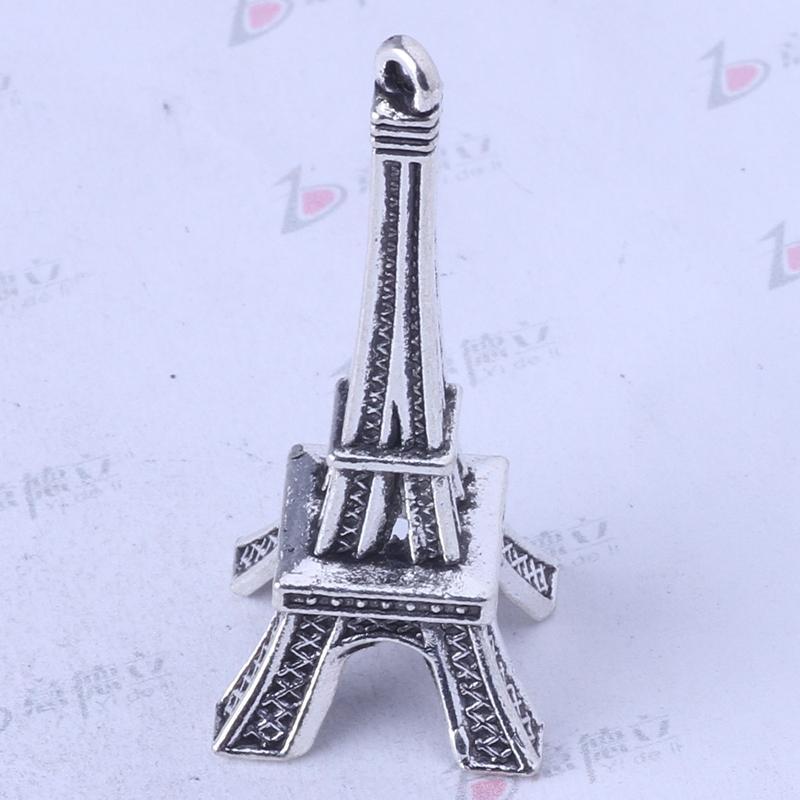 Tour Eiffel Argent Antique / Bronze Charm Pendentif En Alliage de Zinc Fit Bracelets ou Collier 30pcs / lot 3426