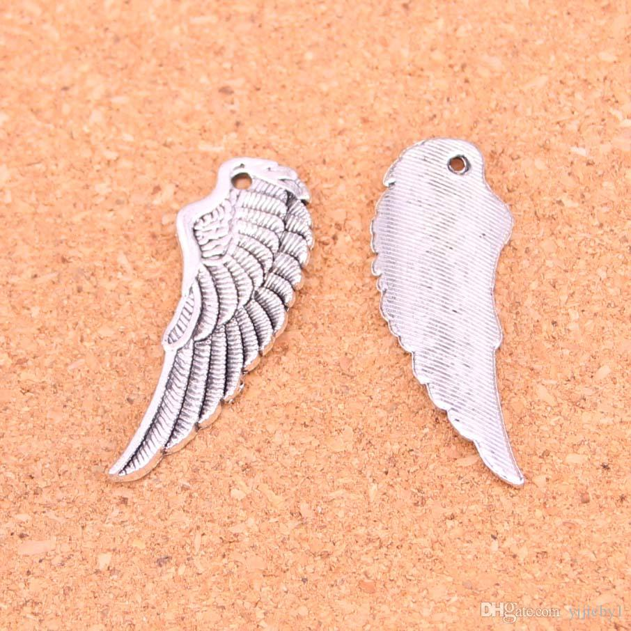 57pcs Antique silver Charms angel wings Pendant Fit Bracelets Necklace DIY Metal Jewelry Making 38*14mm