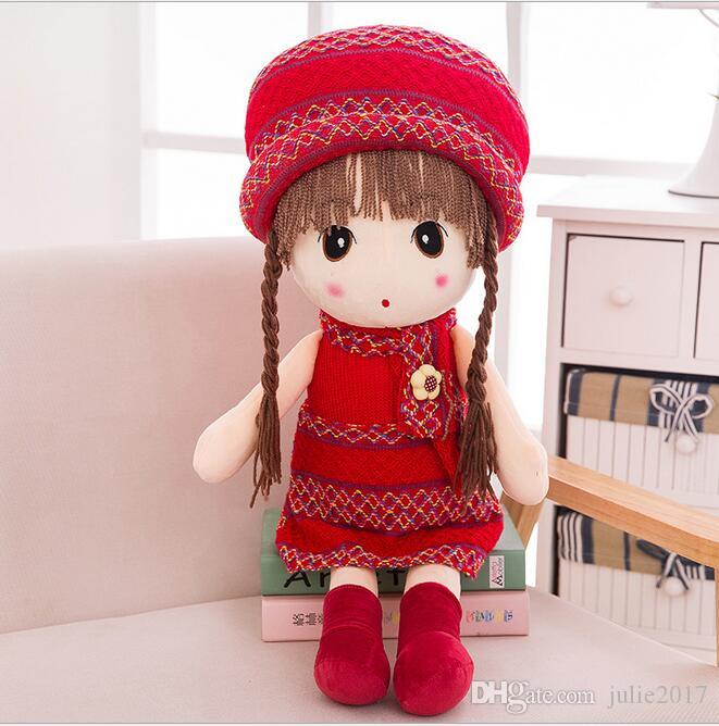 Girls Dolls Plush Toys Cartoon Plush Stuffed Animals Sleeping Soft Doll For Children Toy Birthday Gifts Kids