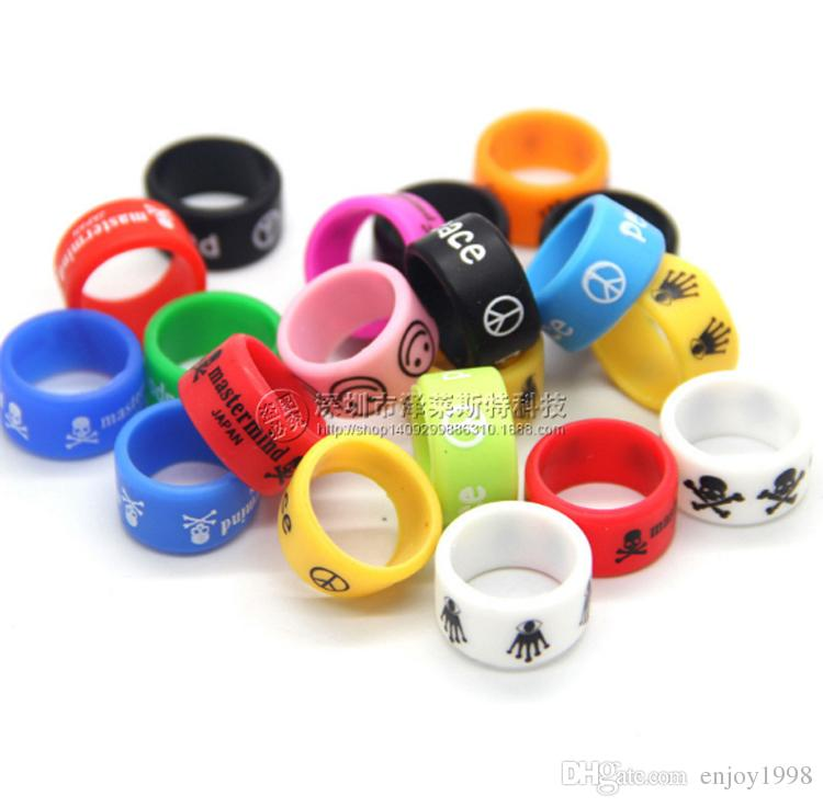 Free DHL 1000Pcs Wide Vapor Band Ring Silicone Non-Slip Vape Bands for Electronic e Cigarette Mod Vapor RDAS Non-Skid Rings 18mm*12mm*2mm