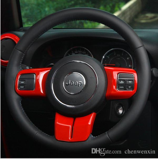 2015 Jeep Wrangler Accessories >> Interior Accessories For For 2011 2015 Jeep Wrangler Jk Steering Wheel Multifunction Button Decorative Cover Sticker Frame Canada 2019 From