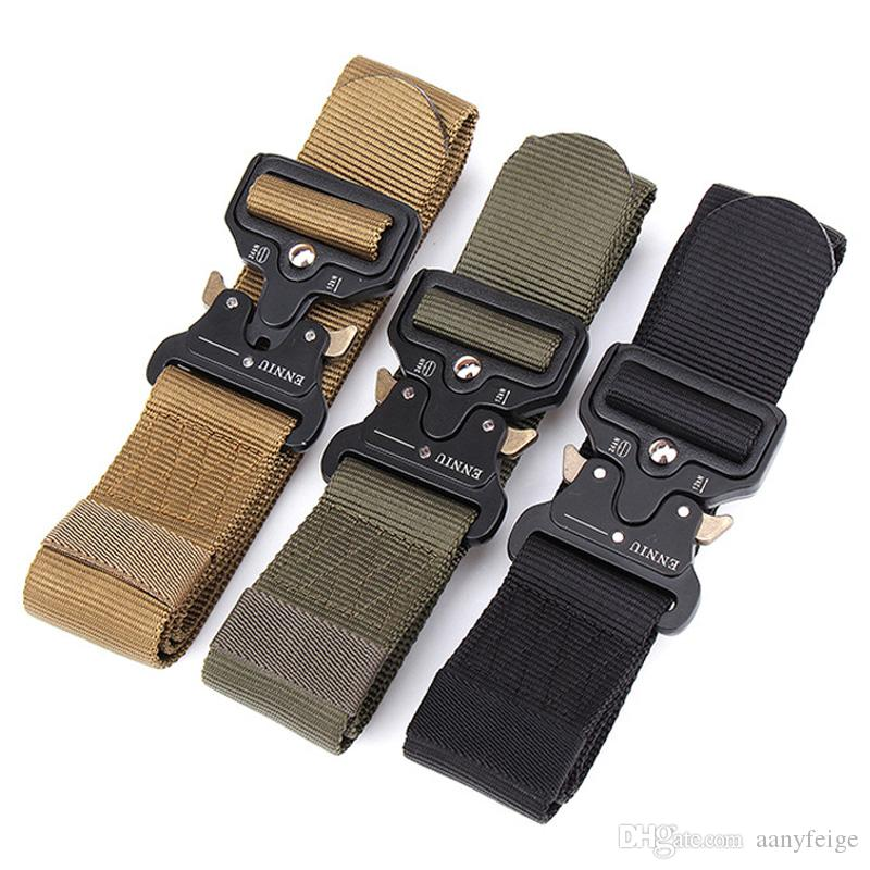 3 Colors Outdoor Sport Tactical Belt Waistband For Camping Hiking Training - Molle Belt Nylon Waist Belt For Men