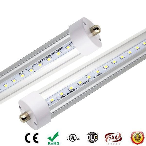 Żarówki LED Oświetlenie Tubes T8 8FT FA8 Pojedynczy sworzeń 40W 50W 60W 4600LM LED Fluorescente Tube 2.4m AC 85-266V Darmowa wysyłka