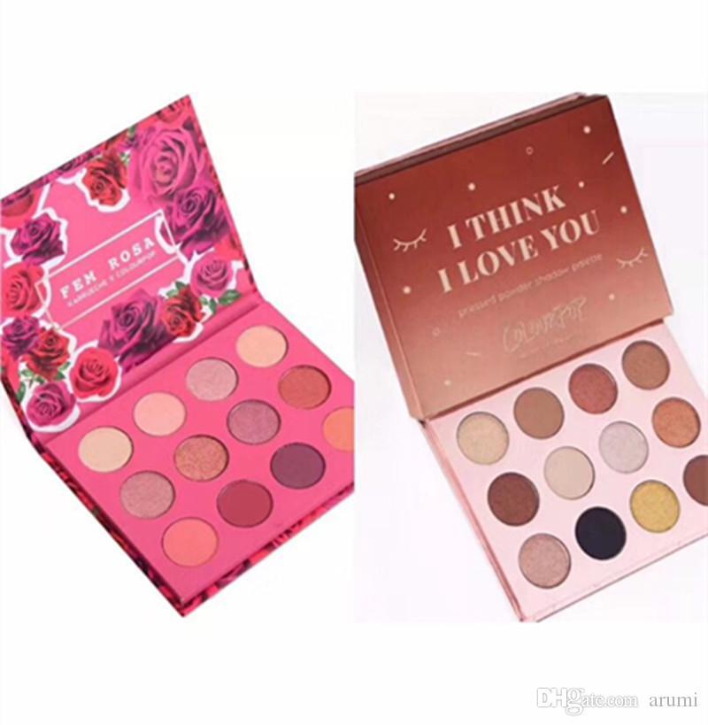 Colourpop Cosmetics X Karrueche Karrueche Fem Rosa Lei penso che ti amo Pressato Powder Eyeshadow Palette 12 colori Ombretto