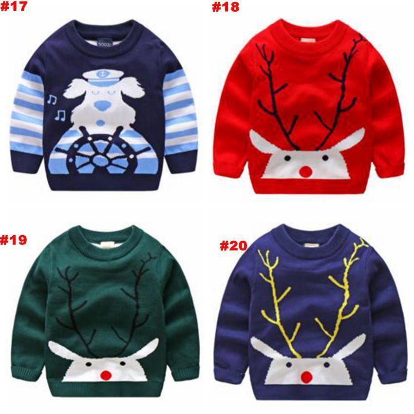 Großhandel Baby Weihnachten Pullover Ins Pullover Cartoon Baumwolle ...