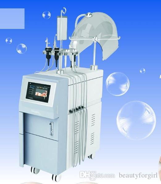 Pulvérisation d'oxygène multifonctionnel de machine faciale de beauté de micro-courant de haute qualité et infusez la machine supersonique de Bio-photon RF