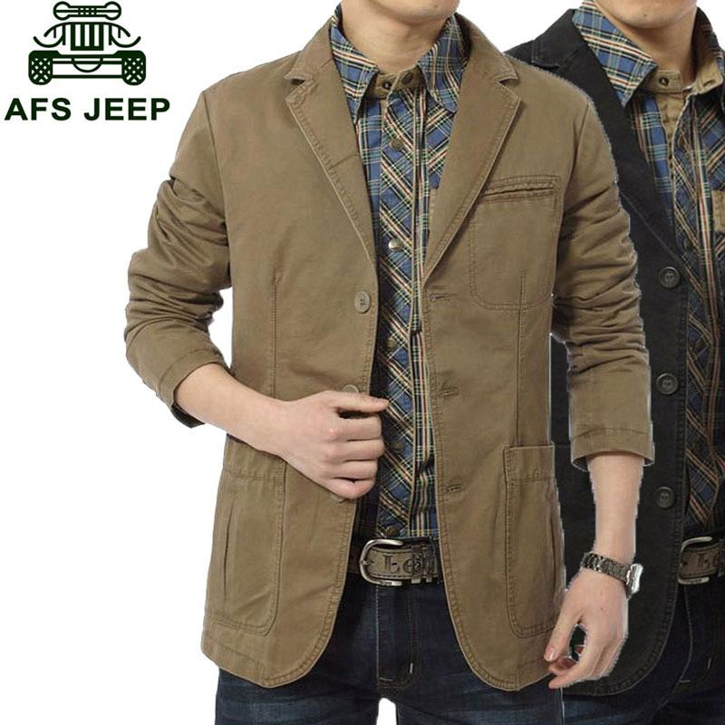 Wholesale- 2017 New Arrival Brand Clothing Men Jackets Beige Color M~4XL Overcoat Slim Fit Casual Blazer Jacket Coats CLOTHES Long Sleeve