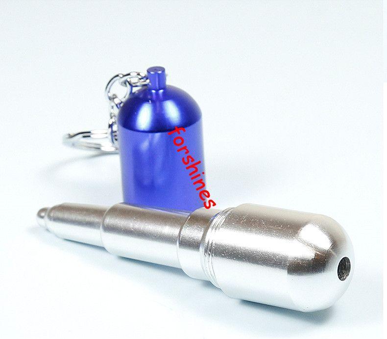 tubi di fumo di metallo capsula portachiavi metallo tabacco tubi tubi del filtro del metallo tubo del metallo titolare della sigaretta del tubo dell'alluminio dei tubi dell'erba