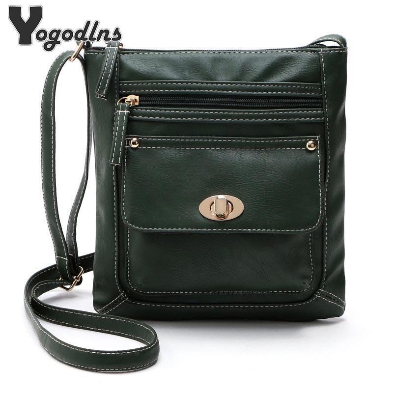 Portable Women Shoulder Bag Crossbody Bag PU Leather Handbag Messenger Tote Bag