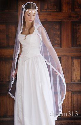 High Quality Romantic Amazing Elegangt Luxury Best Selling Sexy Waltz Length Lace Applique Edge veil Bridal Head Pieces For Wedding Dresses