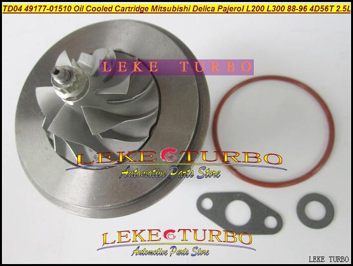TD04-09B 49177-01510 Oil Cooled Turbocharger Cartridge Turbo Chra Core Mitsubishi Delica Pajero I L200 L300 1988-96 4D56T 2.5L (4)