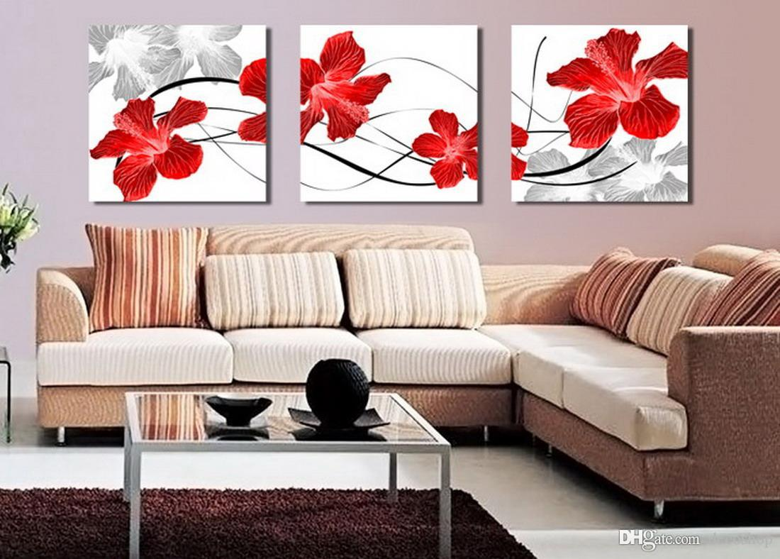Beautiful Flowers Abstract Floral Painting Giclee Print On Canvas Home Decor Wall Art Set30096