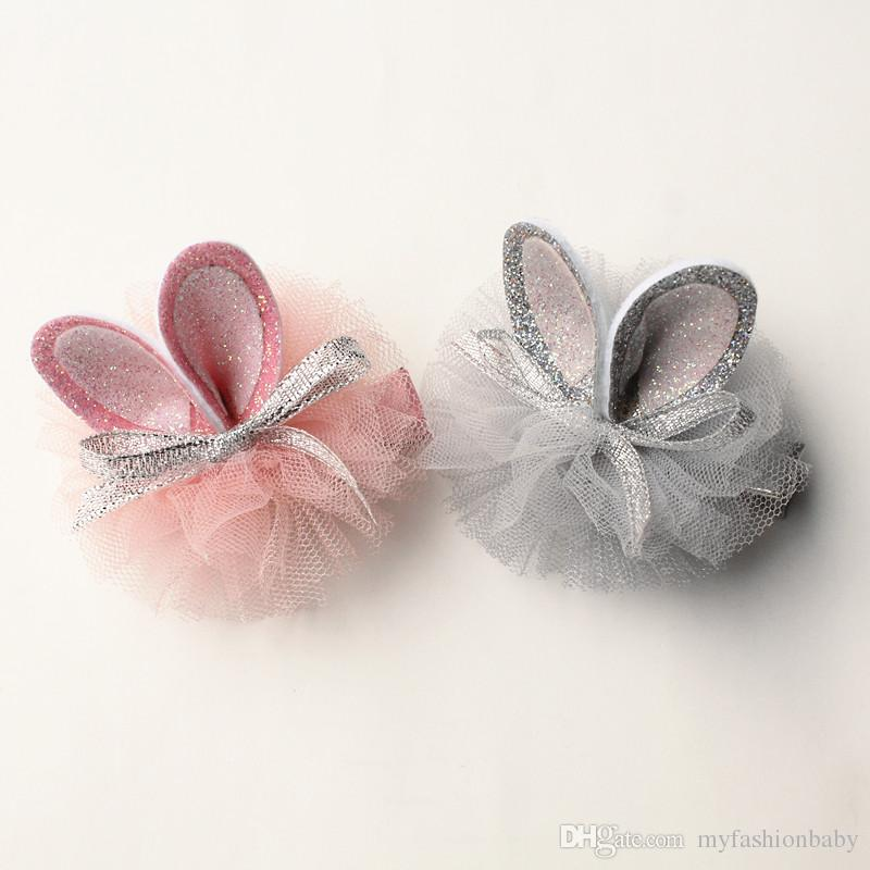 Grampos de cabelo novo Crianças coreano estilo princesa meninas Barrettes Desenhos animados do coelho Orelhas Miúdos bonitos Animal Design Grampos