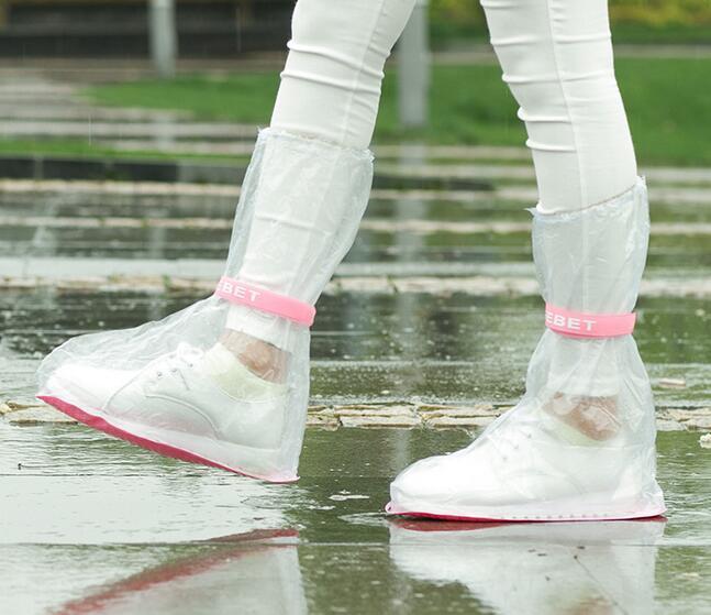 패션 뜨거운 야외 긴 스타일 비옷 세트 사이클 비가 장화 비옷 Rainboots 여행 요점 고품질 방수 레인 신발 커버