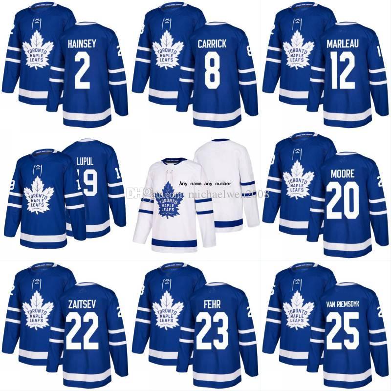 91 Johntavares 2018 Season Toronto Maple Leafs 2 Ron Hainsey 8 Connor Carrick 12 Patrick Marleau 19 Joffrey Lupul 23 Fehr Hockey Koszulki