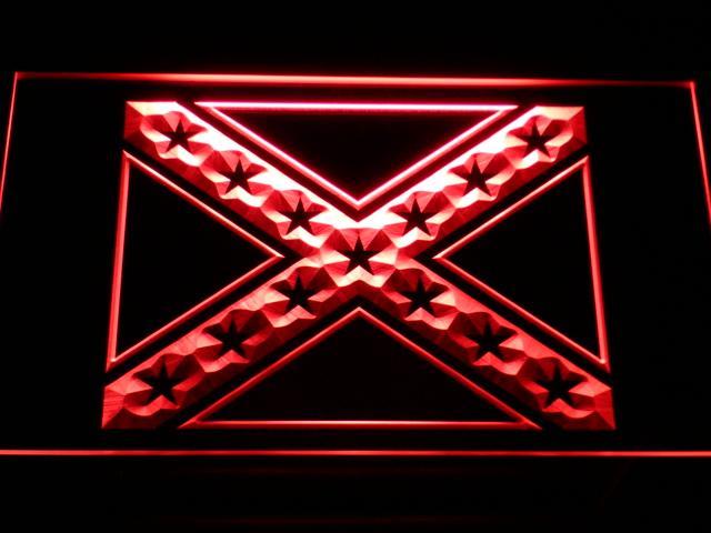 E051 المتمردين الكونفدرالية العلم LED النيون البيرة بار الديكور شحن مجاني دروبشيبينغ بالجملة 7 ألوان للاختيار