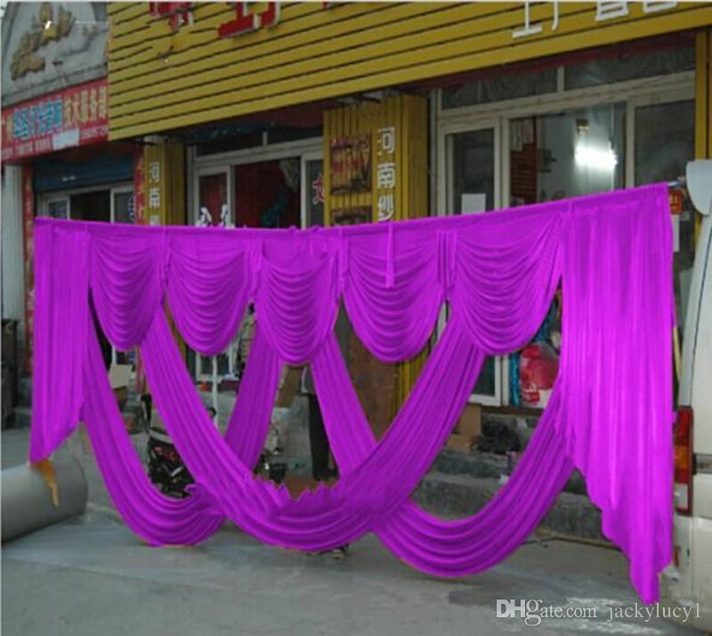 Neue Ankunft Mode 3X6 mt Hochzeit Hintergrund Herzstück Swags Party Vorhang Feier Bühne Hintergrund Vorhänge Dekoration Lieferungen