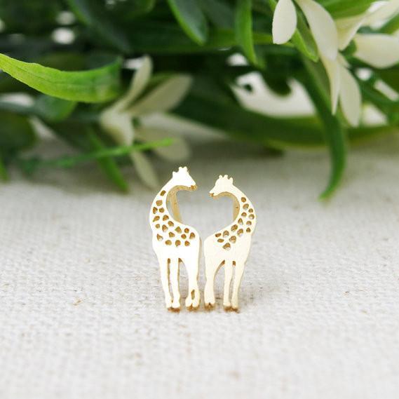 En 2016, la girafe composite nouvelle mode femmes boucles d'oreilles belles boucles d'oreilles en gros livraison gratuite festival meilleur cadeau