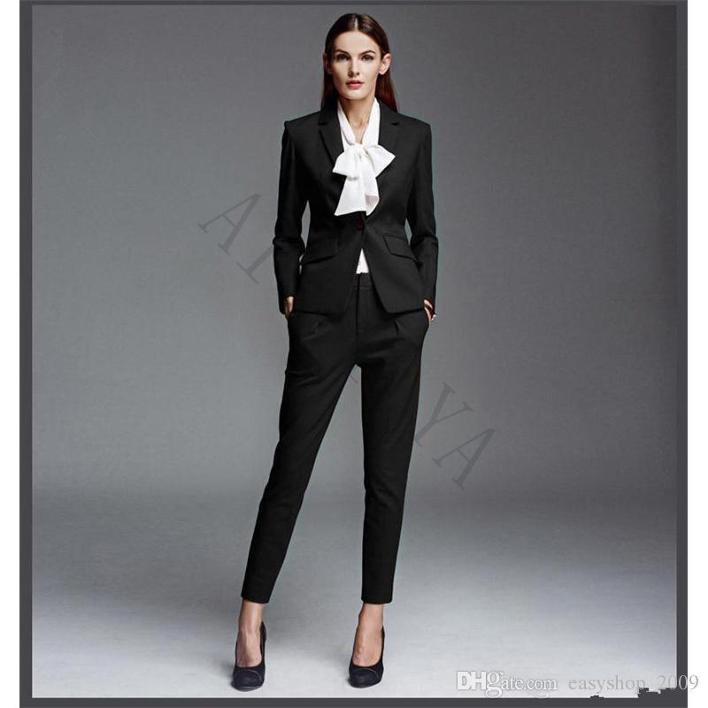 Compre Las Nuevas Y Elegantes Prendas De Vestir Formales De Las Mujeres De Negocios Desgaste Formal Sra Oficina Uniforme 2 Juegos De Ropa
