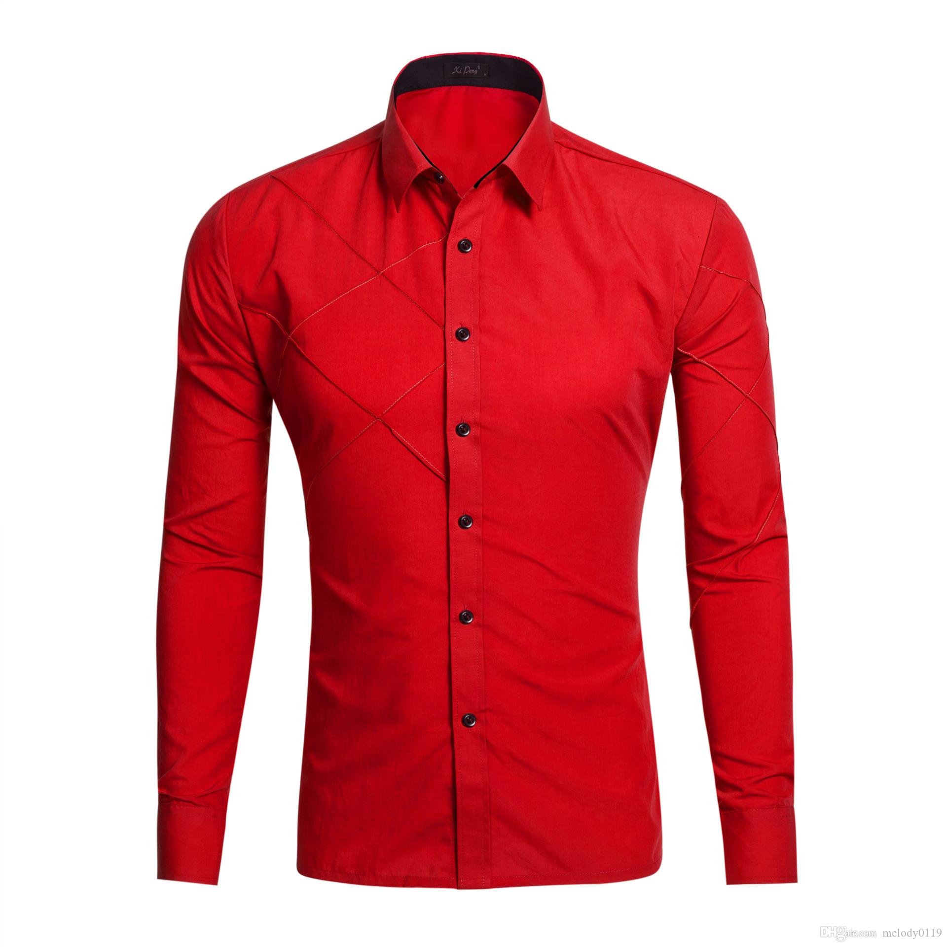 Men /& Women/'s Designer Italian Shirt Slim Fit Long Sleeves Casual Shirts