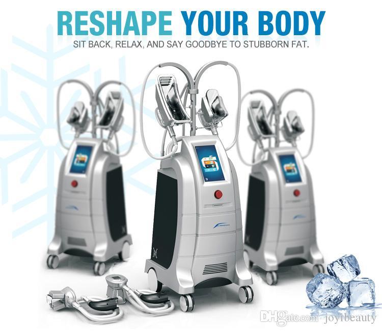 Dos manijas funcionan máquina de congelación gorda del mismo tiempo de Cryolipolysis Cool que esculpe el cuerpo de Cryolipolysis que adelgaza la máquina con el tamaño 4 para la opción