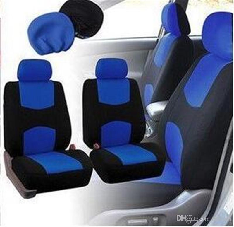 Miraculous Aclassic Cloth Car Seat Covers Classic Universal Full Set Blue Black Color High Back Bucket Fit Most Car Truck Suv Or Truck Seats Covers Unique Pdpeps Interior Chair Design Pdpepsorg