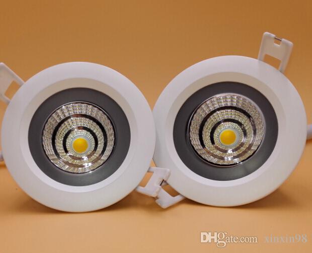 Prix de gros usine de haute qualité COB 12W / 15W Dimmable étanche IP65 LED LED haute luminosité dans la lumière AC85 ~ 265V