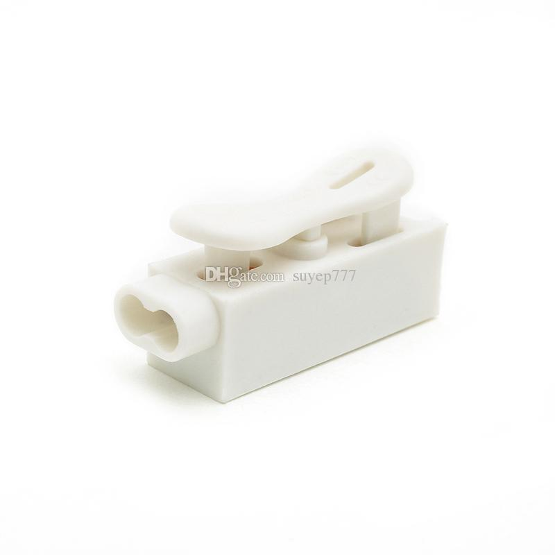 20PCS ZQ-1P Self Locking Spring Wire Connectors Electrical Cable Clamp Terminal Block white Quick Splice Lock Wire Terminal Connectors