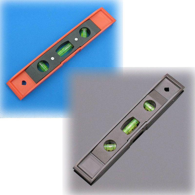 1 조각 230 * 38 * 16 mm 플라스틱 레벨러 어뢰 레벨 룰러 수위 측정기 블랙 레드