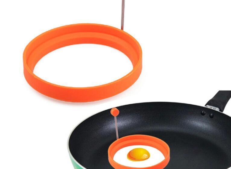 Outils de cuisine Etoiles Coeur Rond Fleur Forme Non-adhésif Silicone Frit Oeuf Moule Pancake Anneaux Cuisine Oeuf Outils Moule
