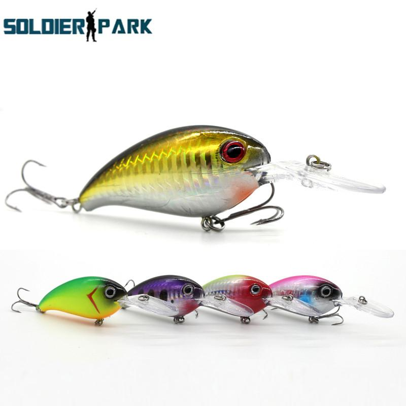 2pcs/lot Fishing Lures Iscas Artificial Minnow Long Shot Casting Fishing Tackle Steel Ball Laser Body Rock Swimbait Crankbait order<$18no tr