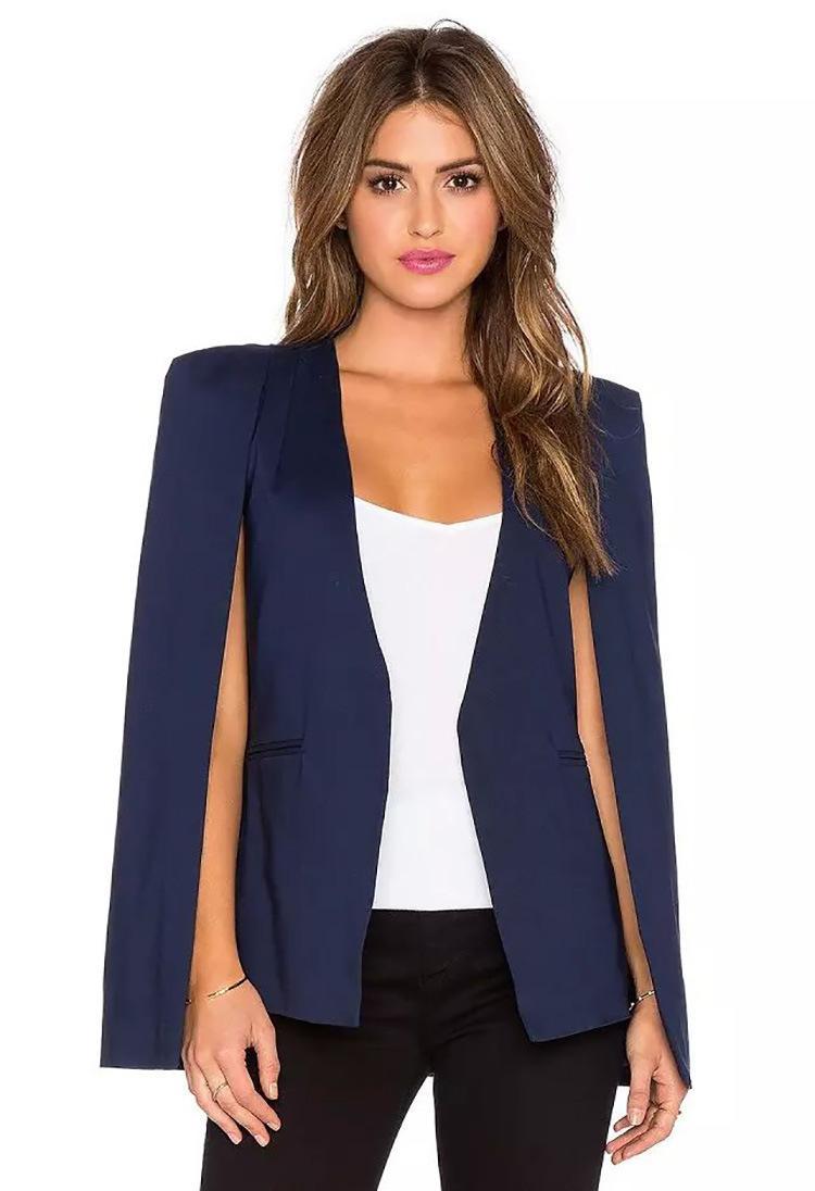 Womens Sleeveless lapel Vest Slim Suit Coat Plus Size Formal Casual Blazer Coat