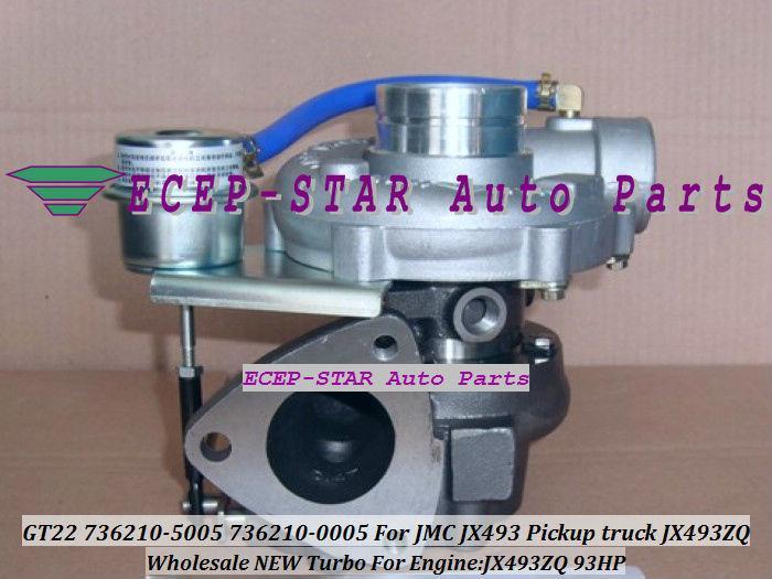 جديد GT22 736210 736210-5006 736210-0006 736210-5005 Turbo TurboCharger for JMC WIND TFR-B Transit Pickup JX493 truck JX493ZQ Water Cooled