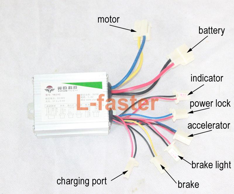 brush dc motor controller wiring diagram 2020 24v 36v 350w electric brush motor speed controller for e bike  2020 24v 36v 350w electric brush motor