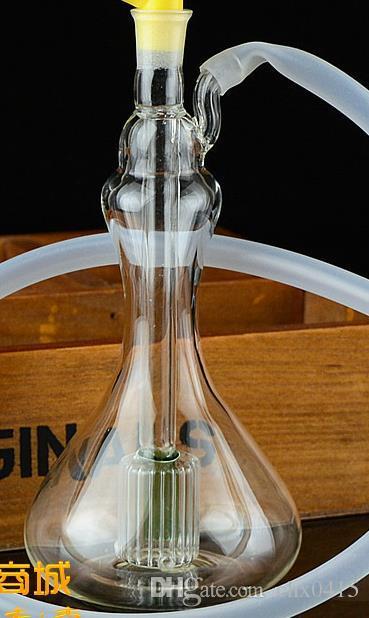 Nuovo vaso di vetro, bong in vetro, tubo dell'acqua in vetro, pipa per fumare