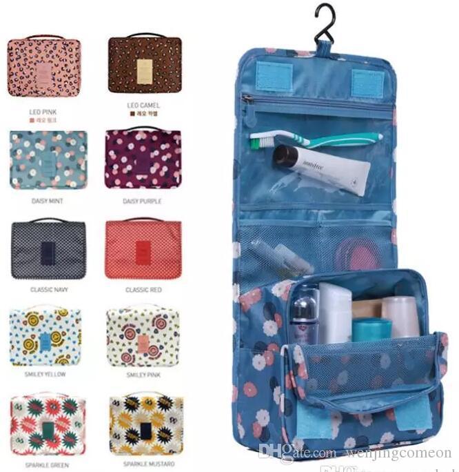 2017 Leopard New Arrival 10 colors Wash Big Toiletry Women Handbag Travel Hanging Bag Makeup Portable Organizer Large Kit Case Lady Pouch