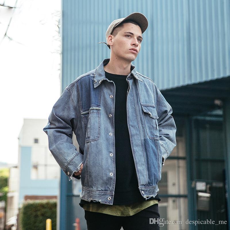 Новое прибытие синий джинсовая куртка мужская мода марка одежды джинсы куртки мужской осень повседневная мужская одежда YEE4432