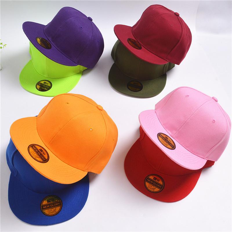 8 ألوان الصلبة جديد الرجال النساء الرياضة snapbacks للتعديل البيسبول كاب الهيب هوب قبعة الصيف الربيع القبعات snap ظهورهم كاب GH-55