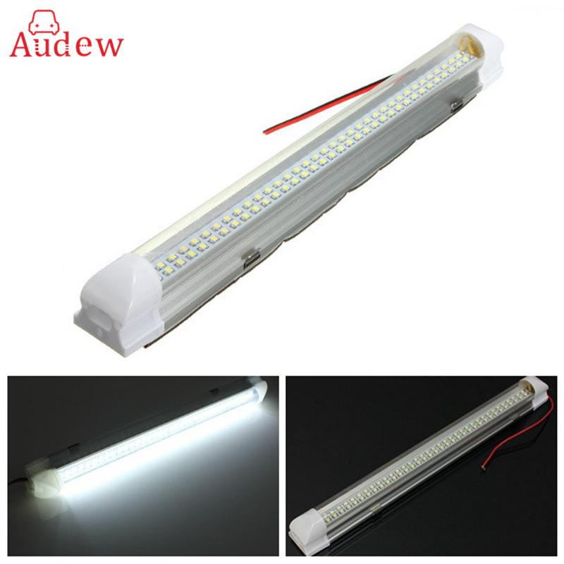 12V 2.5W 72 LED Auto Car Van Bus Caravan Home Light Bar Strip Lamp with On/Off Switch Universal Car Styling Car Accessories