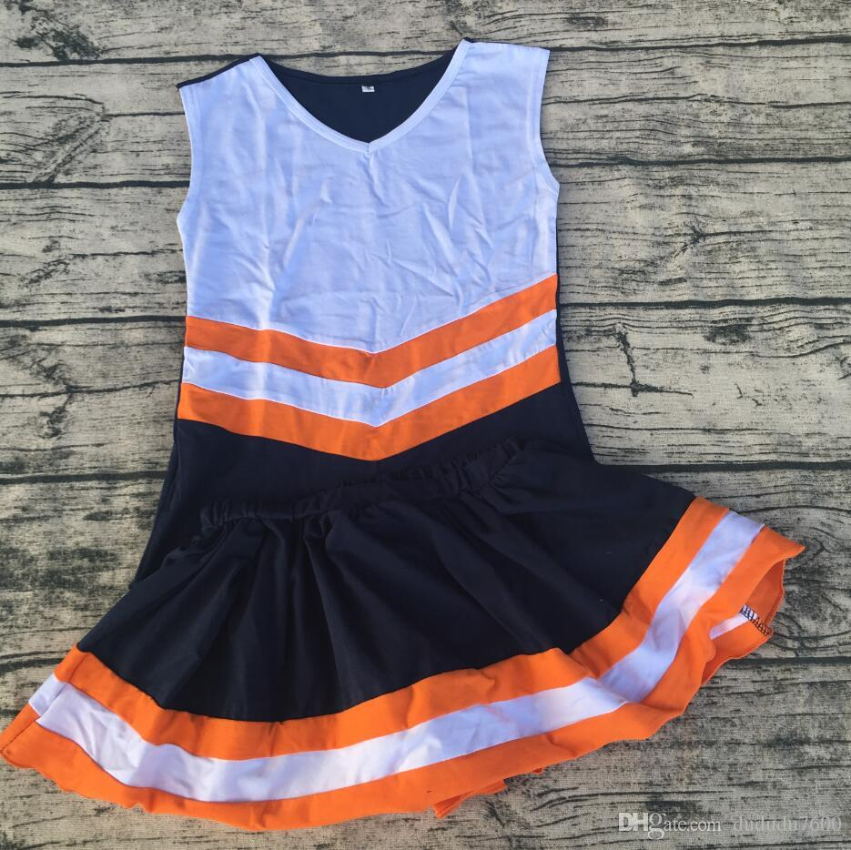new design fashion style China manufacture price hot selling boutique children cute soft cotton cheerleading uniform