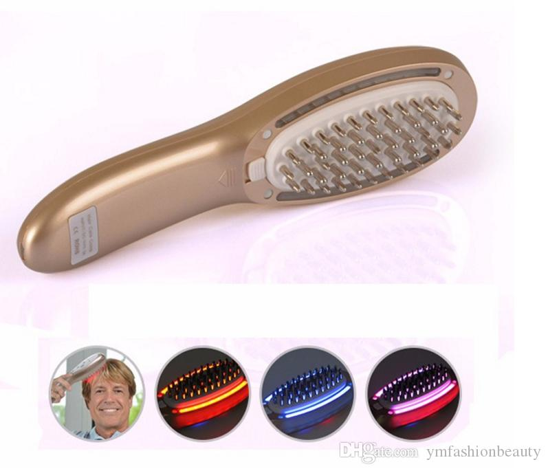 Portable 3 in1 Laser LED Light Therapy Micro Current Stimulation Hair Regrowth Massager Growth Comb Remove Scurf Repair Hair