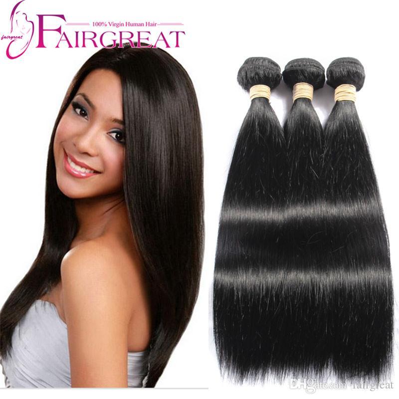 Trecce brasiliane diritte dei capelli di 8-28inch 3 bundles 100 / pc estensione dei capelli umani migliore qualità tessuto brasiliano dei capelli diritti fasci di alta qualità