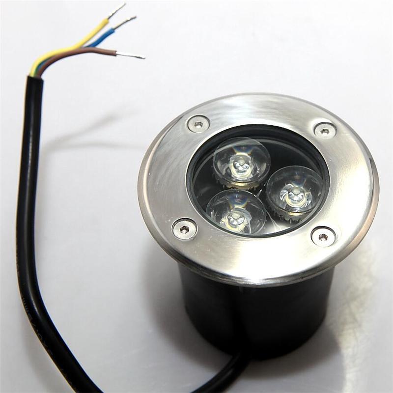 넓은 전압 3 * 3W LED 지하 빛 AC85-265V 정원 조명 매장 램프 IP65 흰색 따뜻한 화이트 무료 배송을 냉각