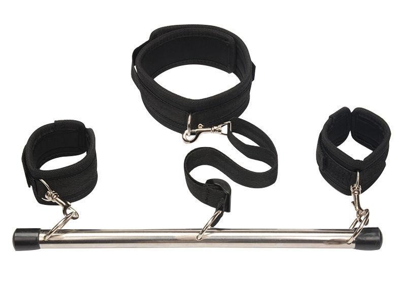 Slave Bondage Spreader 2pcs Bar Ankle Wrist Cuffs Restraints Flirt BDSM Sex Toy #R47